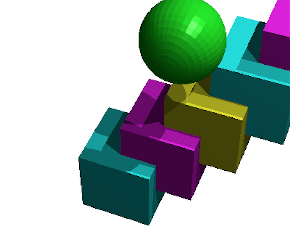 Rendered Blocks and Ball